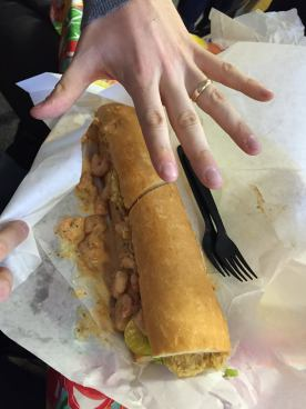 Po Boy. Hand added for scale.