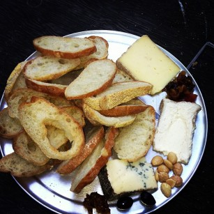 Cheese plate at Bacchanal's wine bar